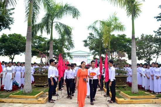 Năm học mới, Trường THPT Hùng Vương có 460 học sinh khối lớp 10. Ảnh: QUANG VIỆT