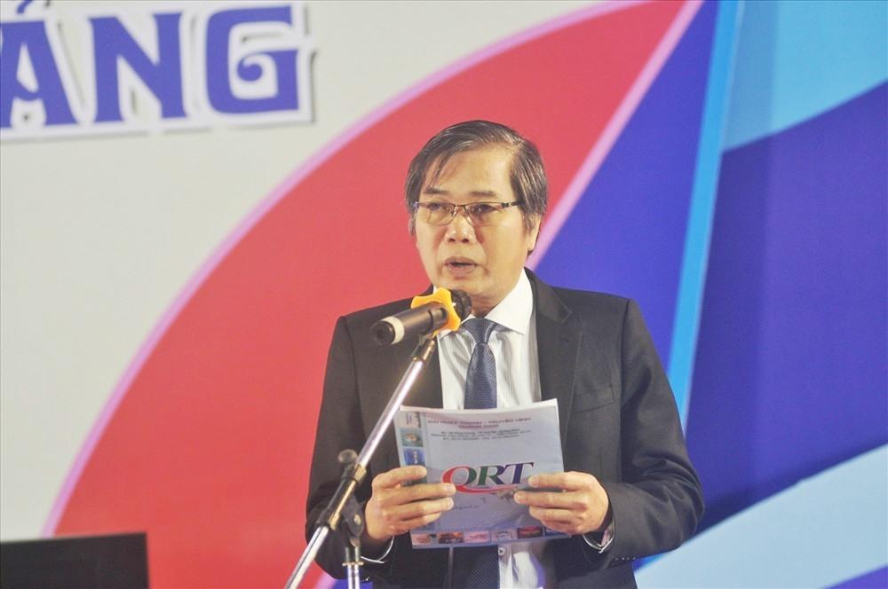 Giám đốc Đài PT-TH Quảng Nam Mai Văn Tư phát biểu khai mạc chương trình Học trò xứ Quảng mùa thứ 5. Ảnh: X.P