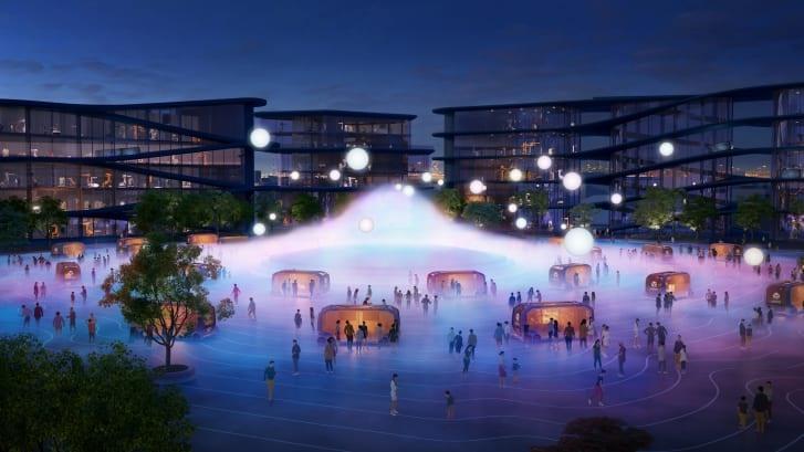 Dự án xây dựng thành phố thông minh Woven City được bắt đầu được triển khai vào năm 2021. Ảnh: Toyota/Bjarke Ingels Group