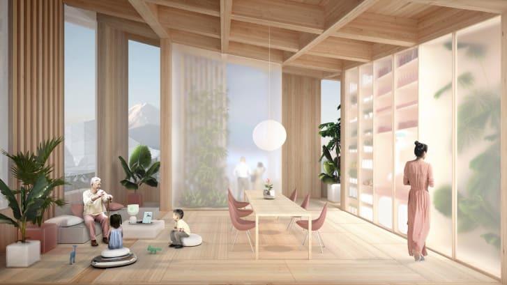 Công nghệ thông minh được lắp đặt theo dõi sức khỏe của cư dân Woven City...Ảnh: Toyota/Bjarke Ingels Group