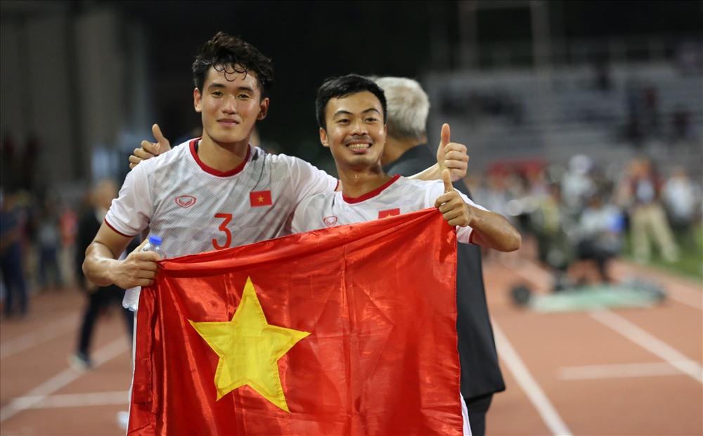 Huỳnh Tấn Sinh và Đỗ Thanh Thịnh tại SEA Games 30 - 2019. Ảnh: HỒ ĐỨC ĐỒNG