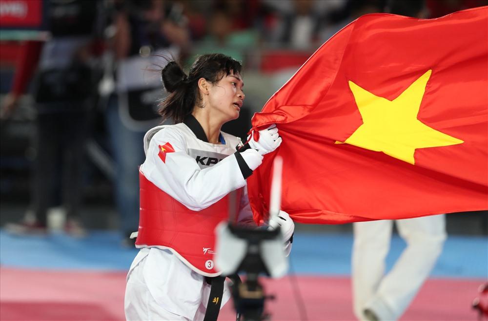 Vận động viên Taekwondo Phạm Thị Thu Hiền. Ảnh: HỒ ĐỨC ĐỒNG