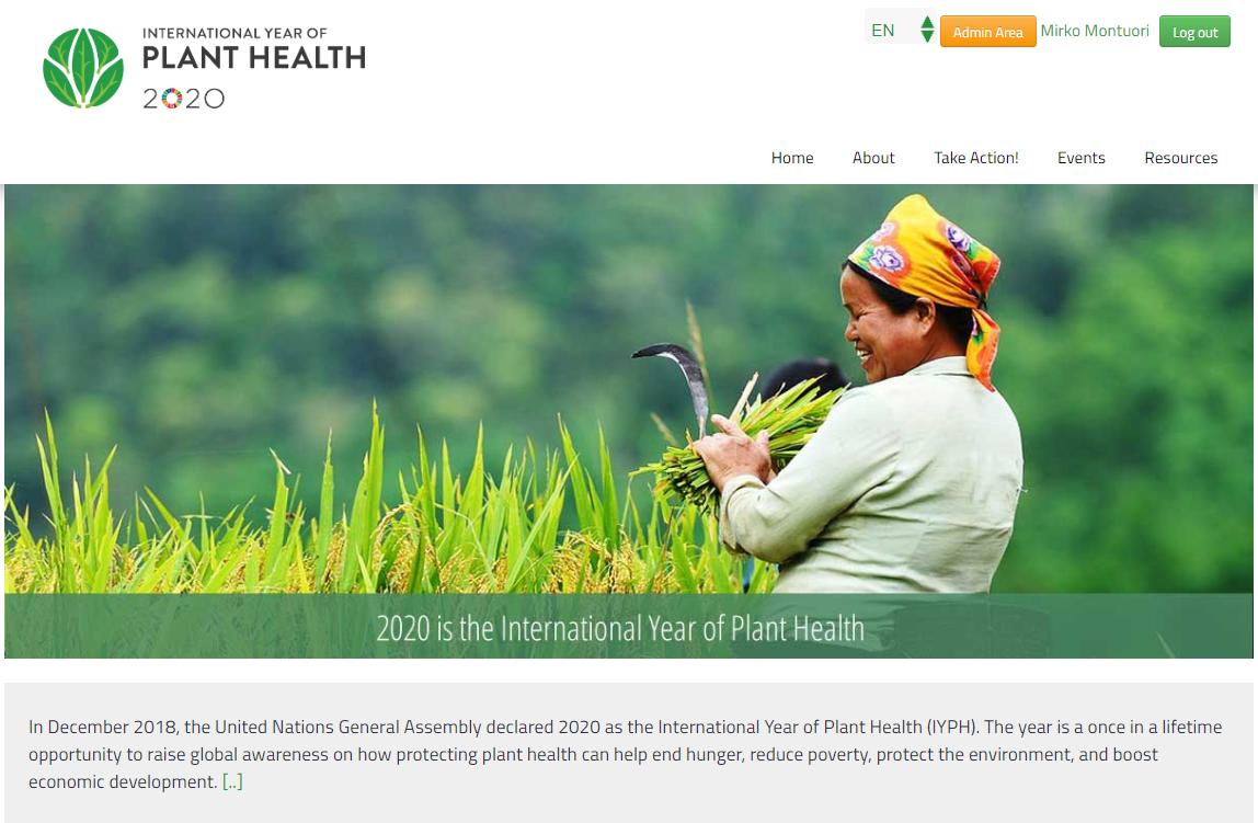 Bảo vệ thực vật góp phần đảm bảo nguồn an ninh lương thực, xóa đói nghèo. Ảnh: IPPC