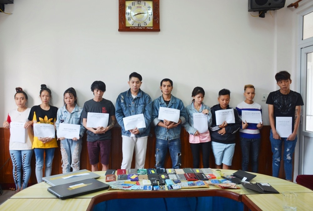 10 đối tượng Nam hoạt động phạm tội chiếm đoạt tài sản bị Công an Quảng Nam bắt giữ