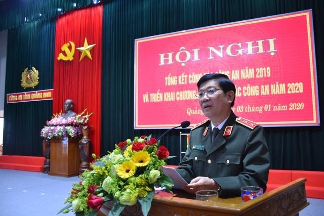 Trung tướng Nguyễn Văn Sơn, Thứ trưởng Bộ Công an phát biểu chỉ đạo Hội Nghị