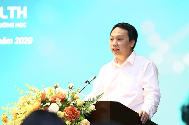 Nguyen Huy Dung, Director of the MIC's Authority of Information Technology Application, speaks at the platform introduction event on October 9 (Photo: VNA)