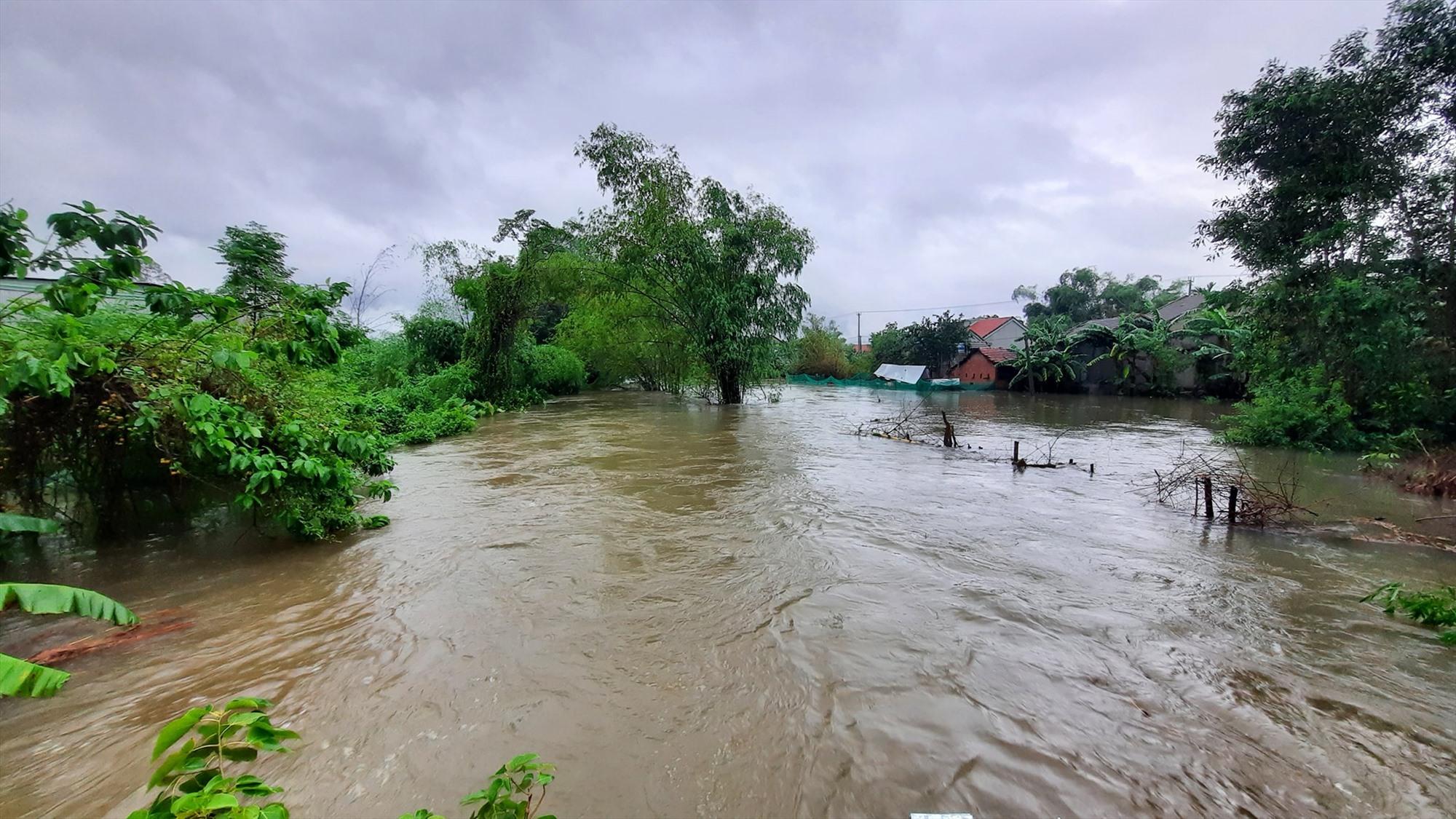 Mưa lớn gây ngập tại nhiều địa phương. Ảnh: M.L