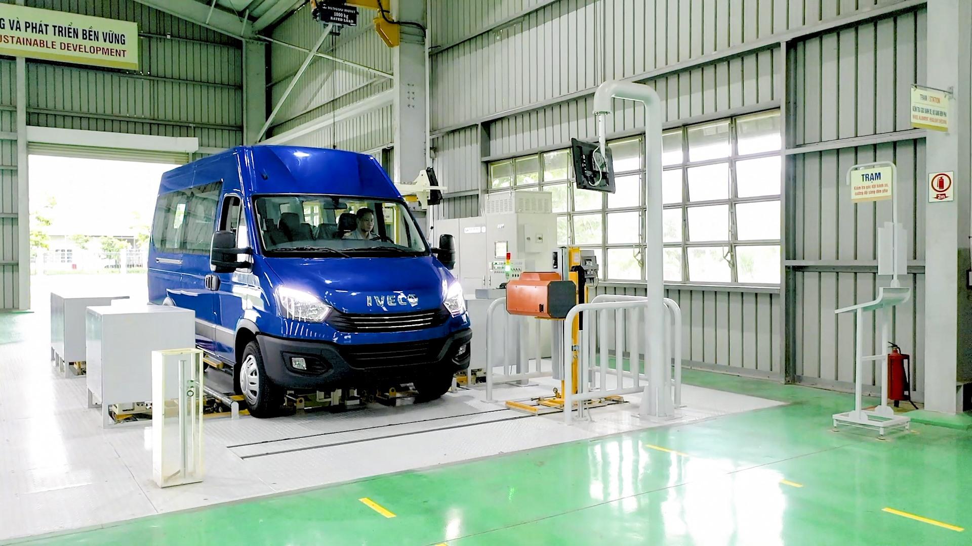 Dây chuyền kiểm định Minibus Iveco 2
