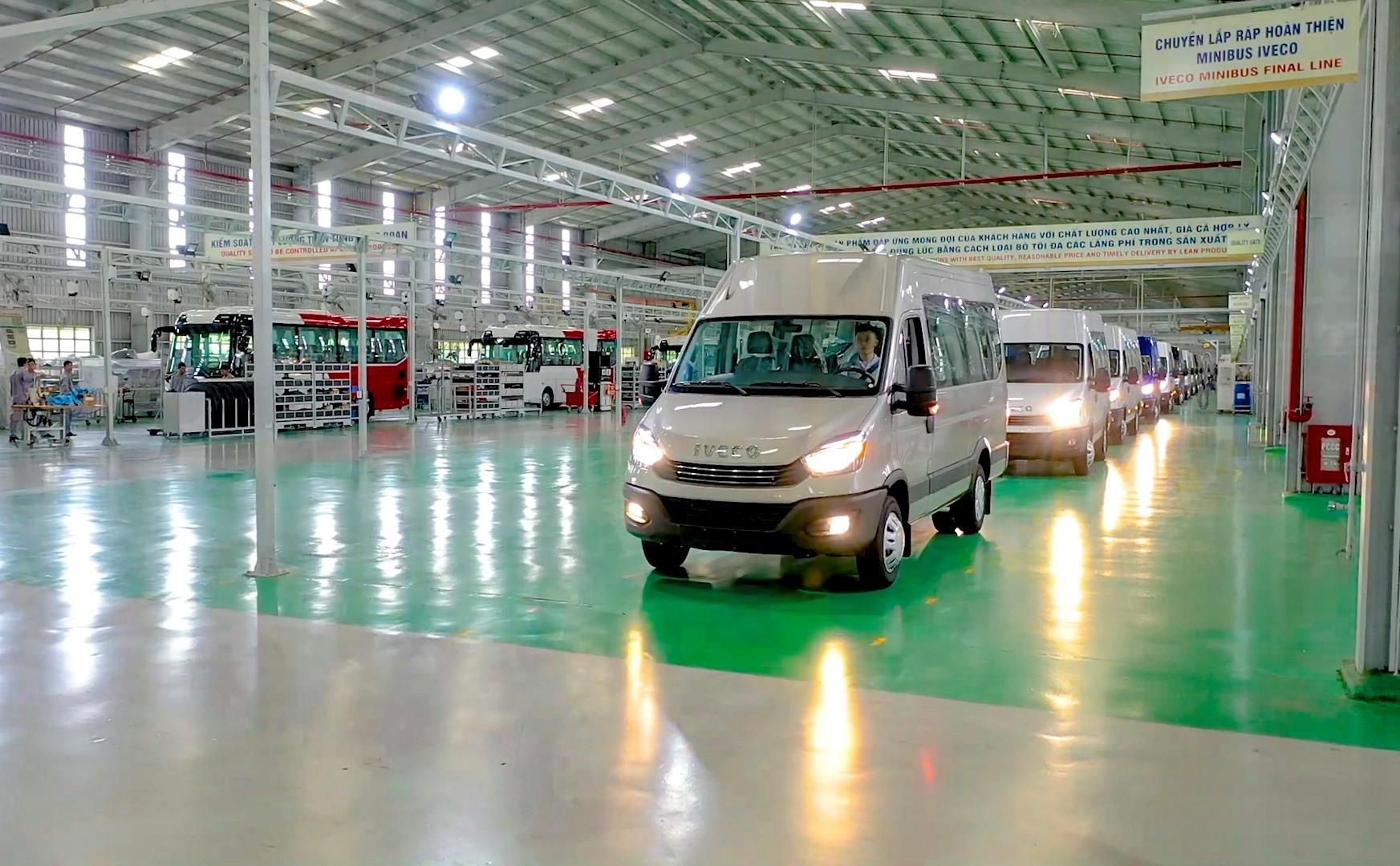 Dây chuyền lắp ráp hoàn thiện Minibus Iveco
