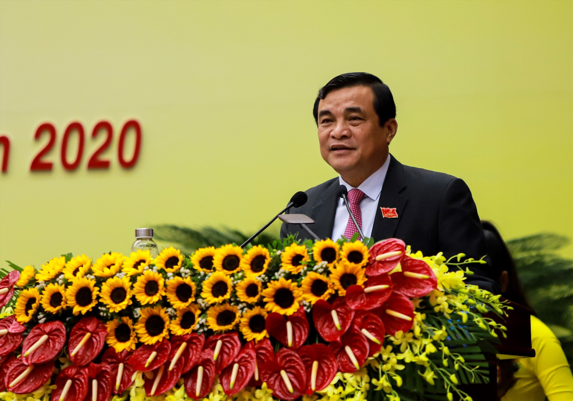 Bí thư Tỉnh ủy Phan Việt Cường phát biểu tại phiên trù bị. Ảnh: Đ.C