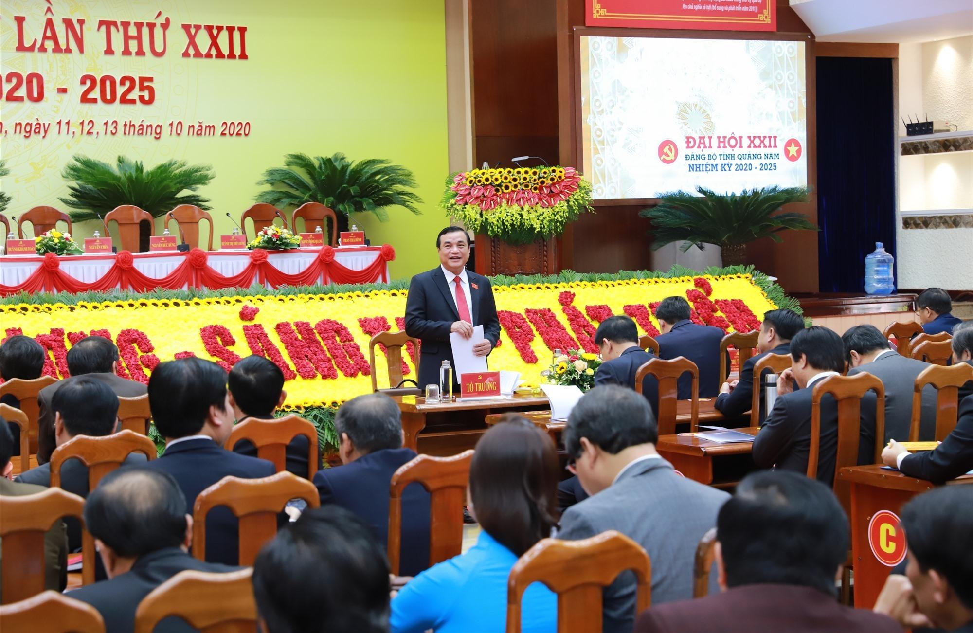 Bầu 53 đồng chí tham gia Ban Chấp hành Đảng bộ tỉnh Quảng Nam khóa XXII (nhiệm kỳ 2020 - 2025)