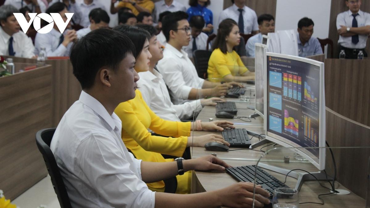 Quang Nam Intelligent Operation Centre (IOC). Photo: VOV