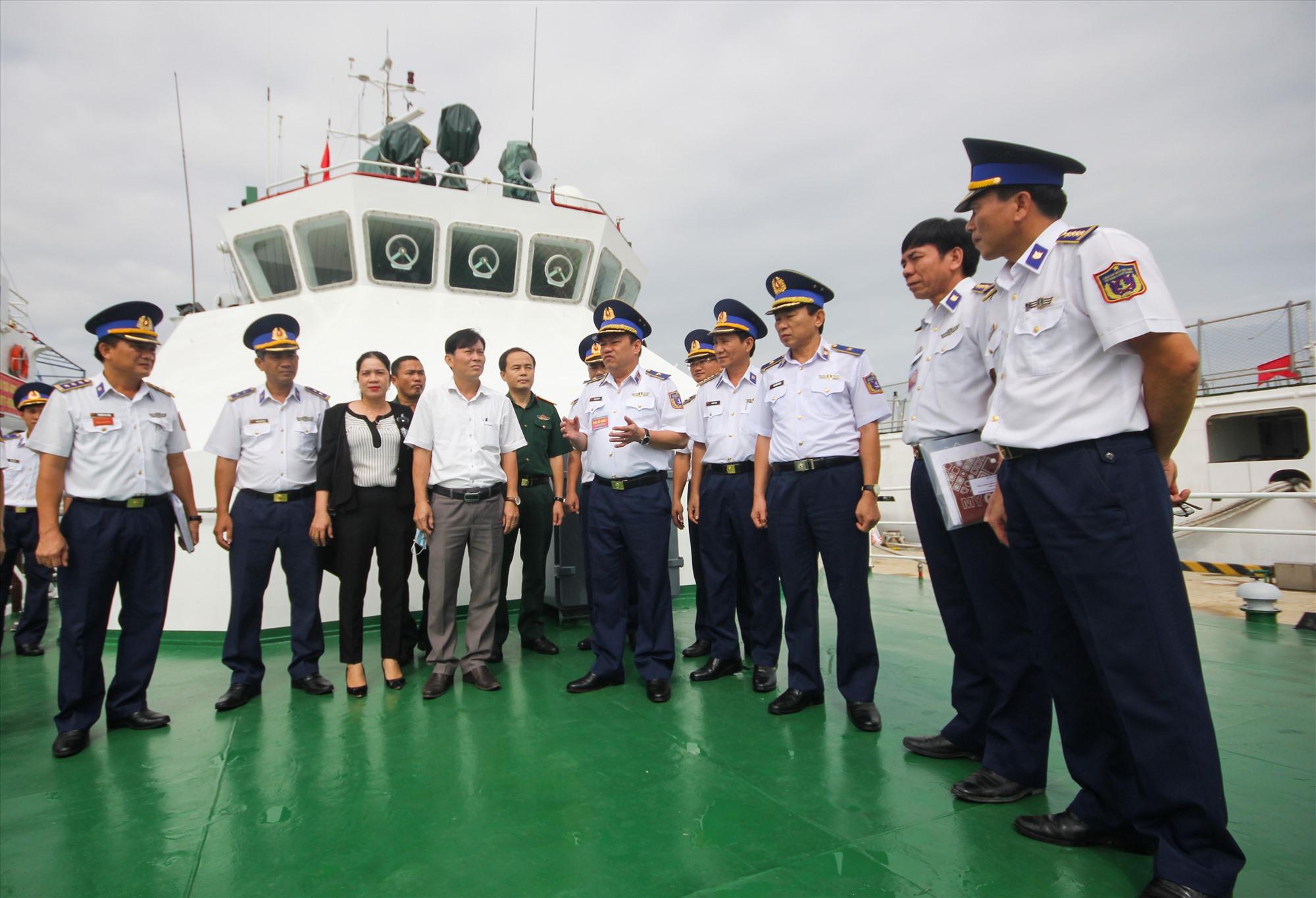Ban tổ chức hội thi, hội thao kiểm tra tàu CSB 2016.