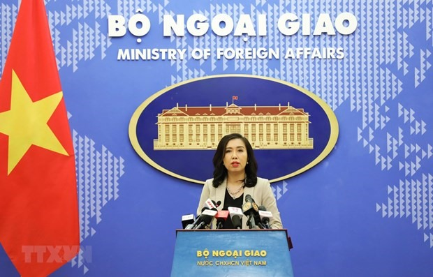 Spokeswoman of the Foreign Ministry Le Thi Thu Hang speaks at the press conference on October 15 (Photo: VNA)