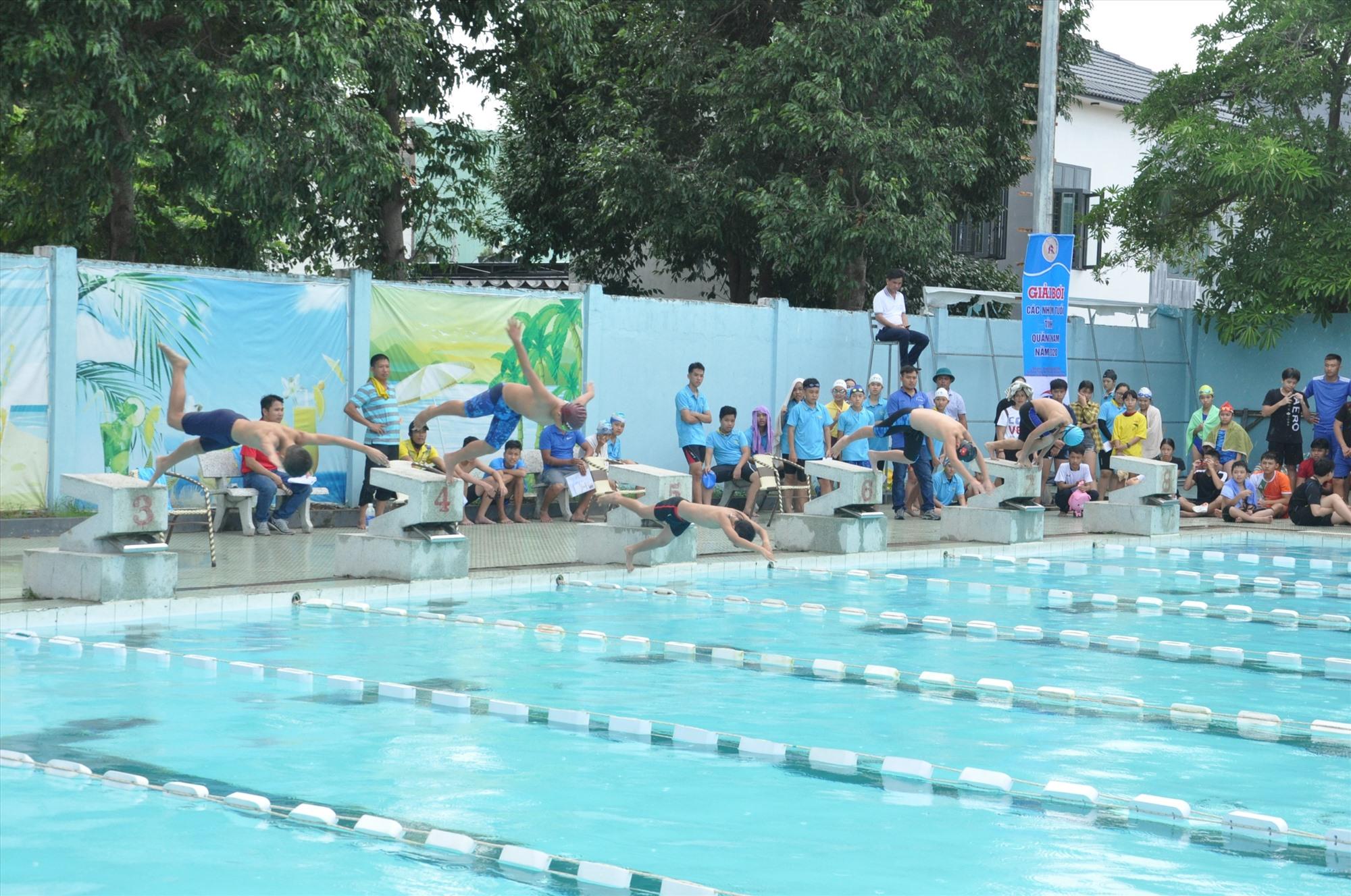 Hồ bơi Trung tâm Thanh thiếu niên miền Trung (TP.Tam Kỳ) sẽ là địa điểm tổ chức giải Bơi học sinh phổ thông toàn quốc năm 2020. Ảnh: T.VY