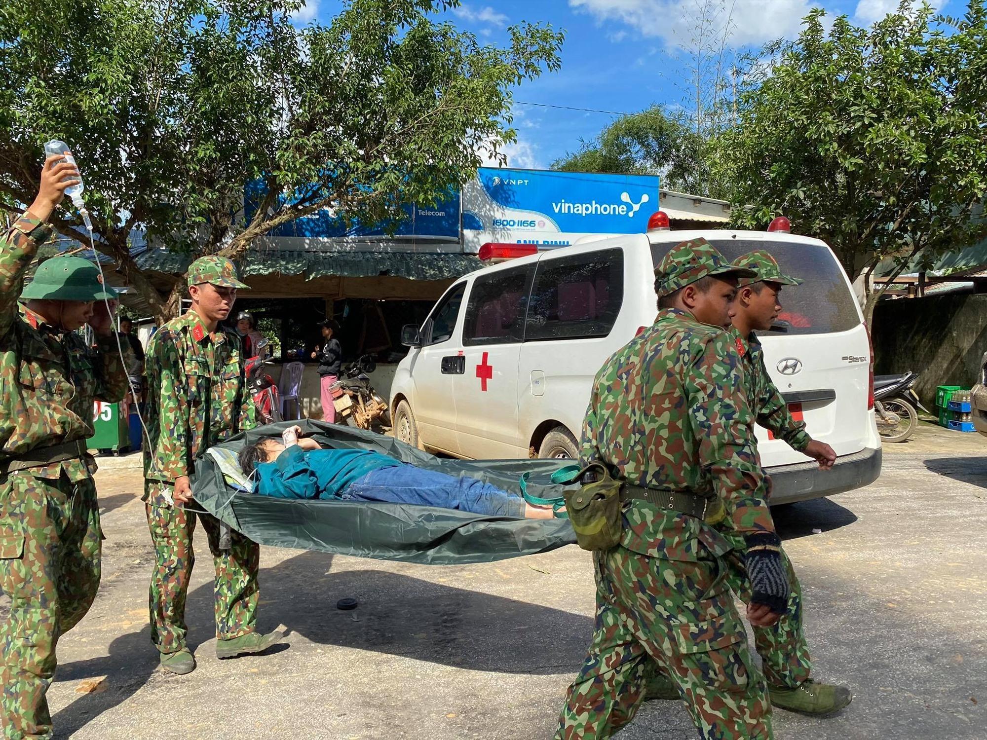 Bệnh viện dã chiến ở xã Trà Dơn