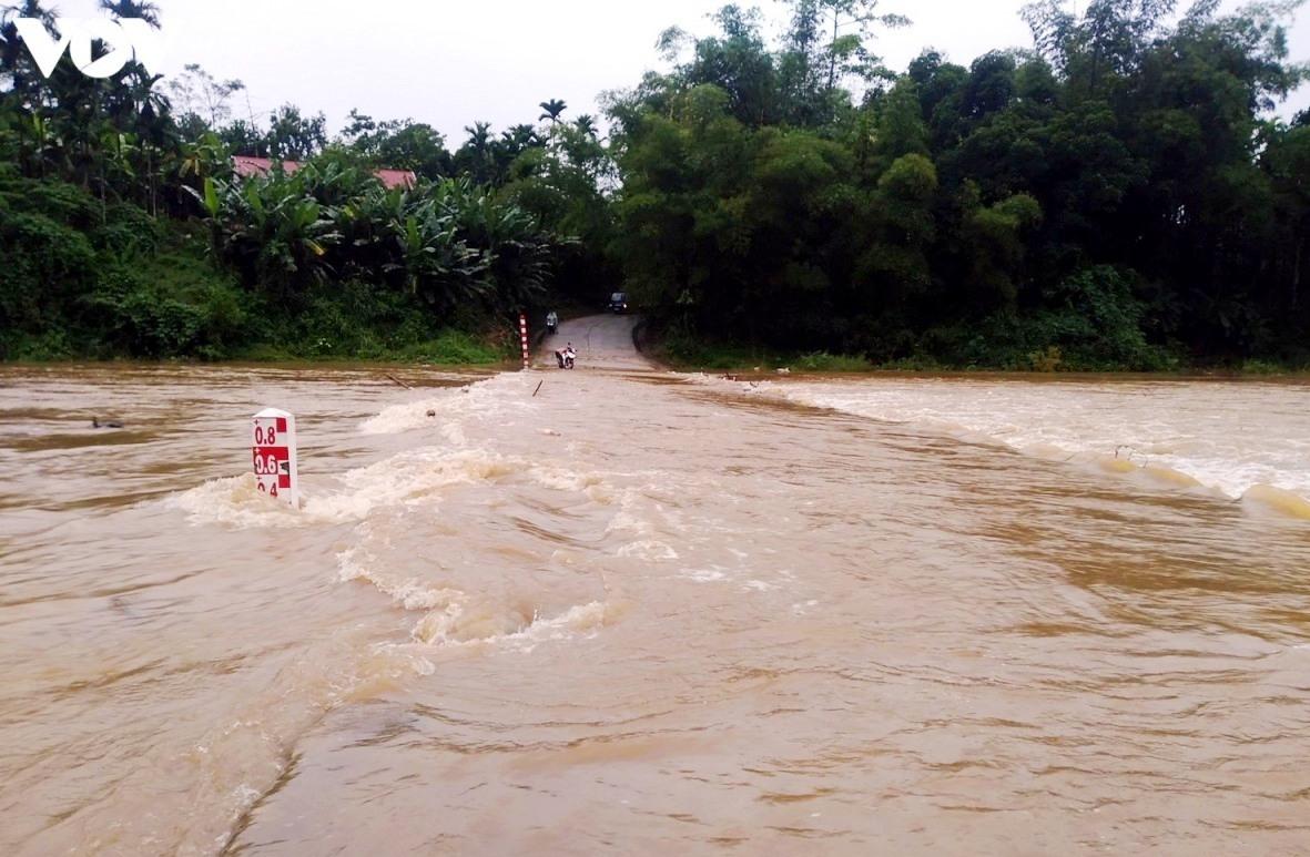 Mưa lớn diện rộng, mực nước các sông đang lên