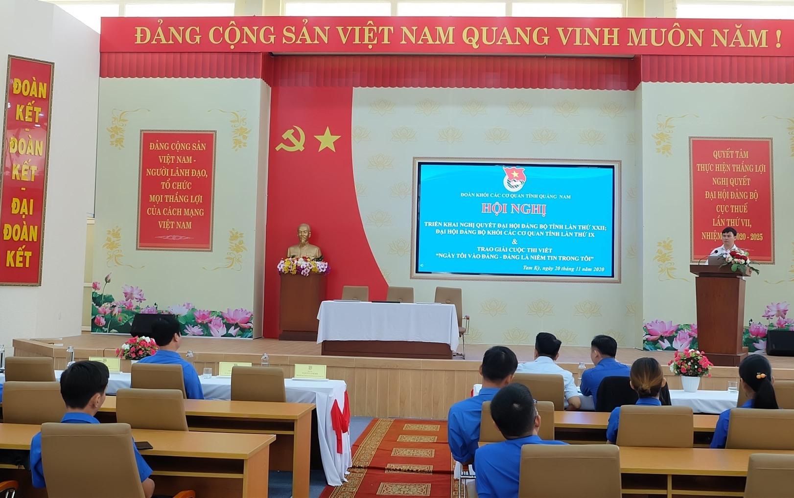 Tuổi trẻ Khối các cơ quan tỉnh học tập nghị quyết đại hội Đảng các cấp