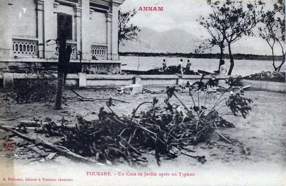 Đà Nẵng sau một cơn bão đầu thế kỷ 20. Ảnh: Delcam.net