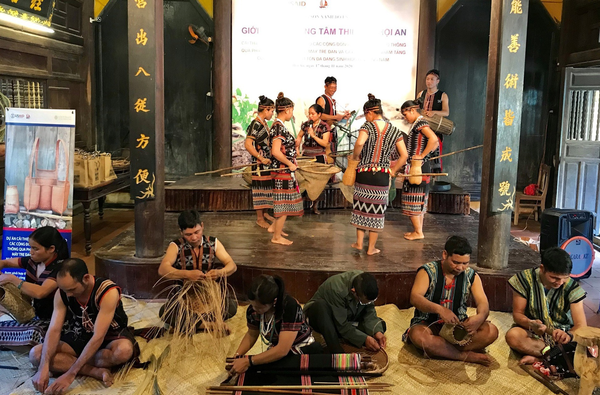 Fine arts performances at the opening ceremony of the centre