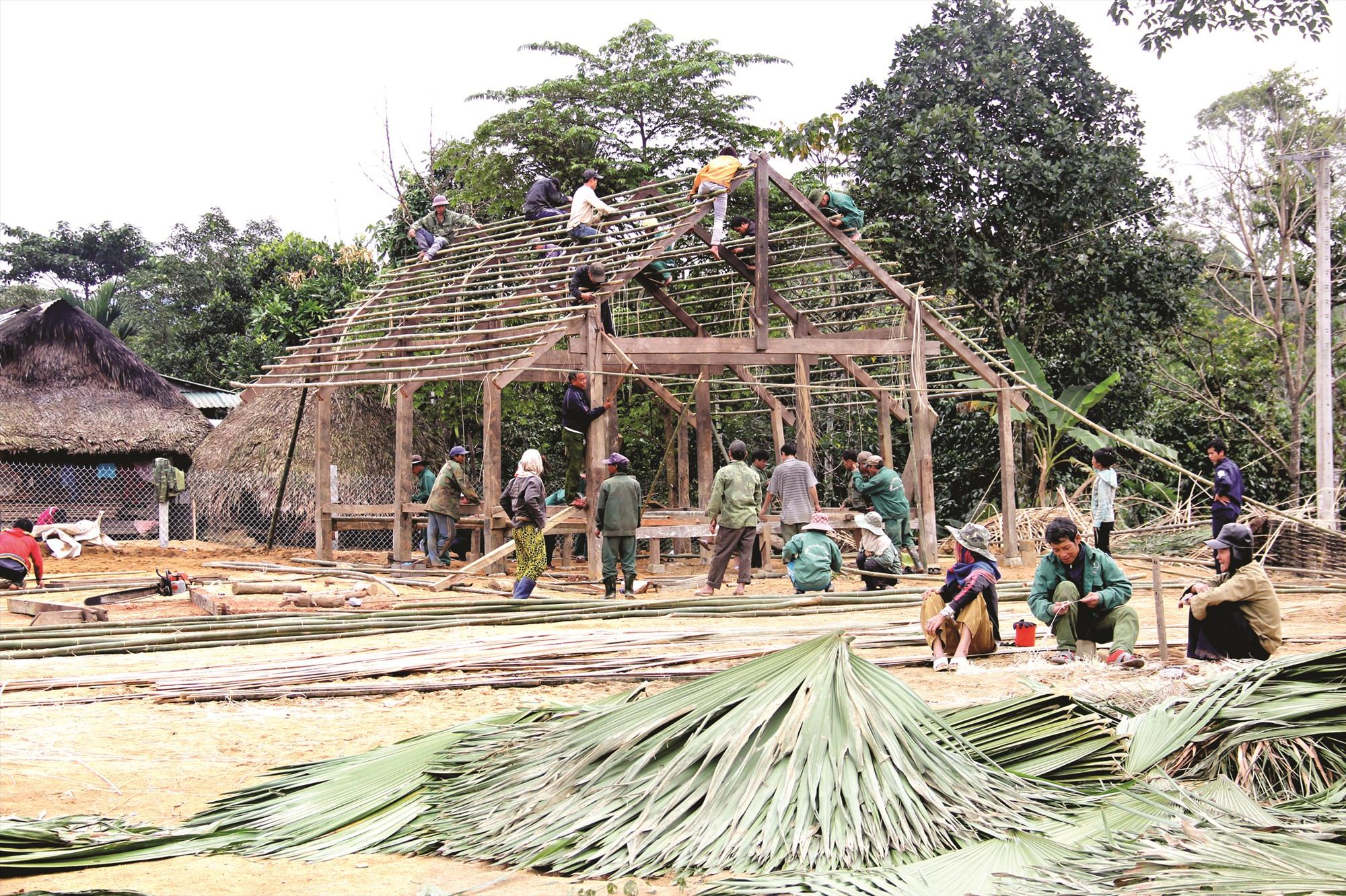 Đồng bào miền núi thường chọn dựng làng ở những nơi phù hợp với phong tục tập quán và thuận lợi cho sinh kế. Ảnh: N.H