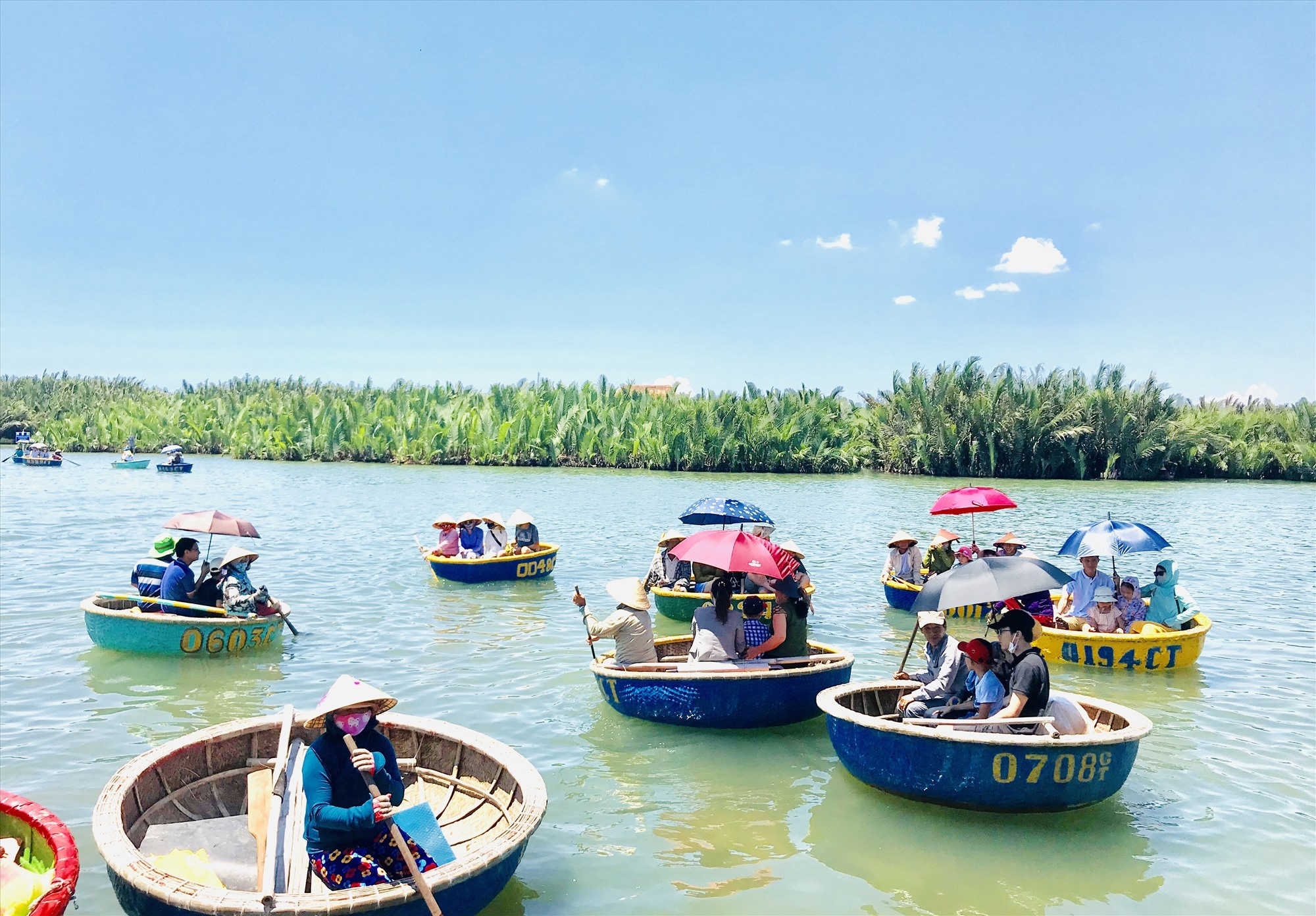 Visitors to Hoi An