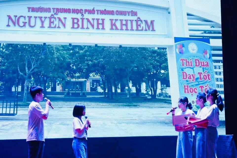 Clip dự thi vòng loại của học sinh Trường THPT chuyên Nguyễn Bỉnh Khiêm. Ảnh  Nhà trường cung cấp.