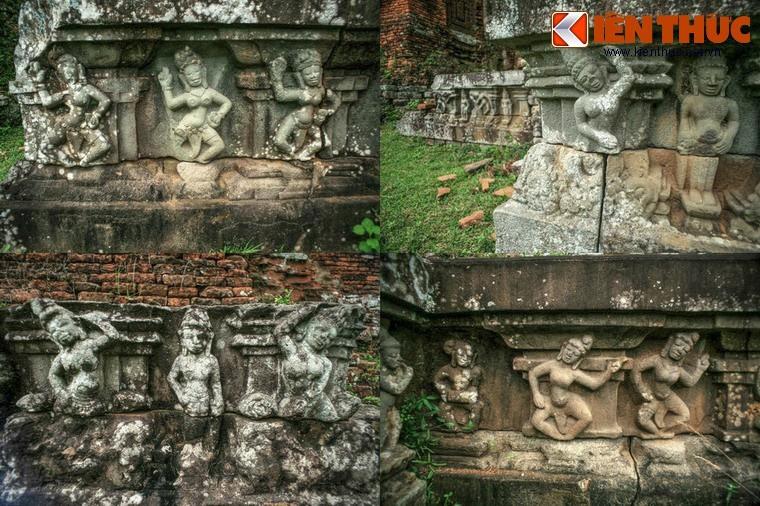 Vivid stone sculptures in Chien Dan towers