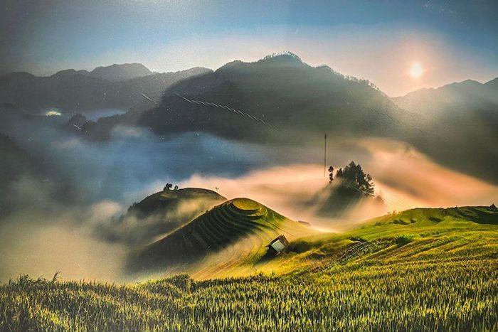 Mam Xoi-Mu Cang Chai terraced fields in Yen Bai province