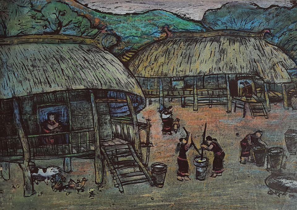 """Tác phẩm """"Buổi sáng trên cao nguyên"""" của tác giả Nguyễn Duy Ninh."""