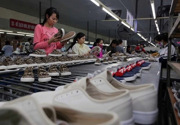 Production of footwear for export to the EU (Photo: VNA)