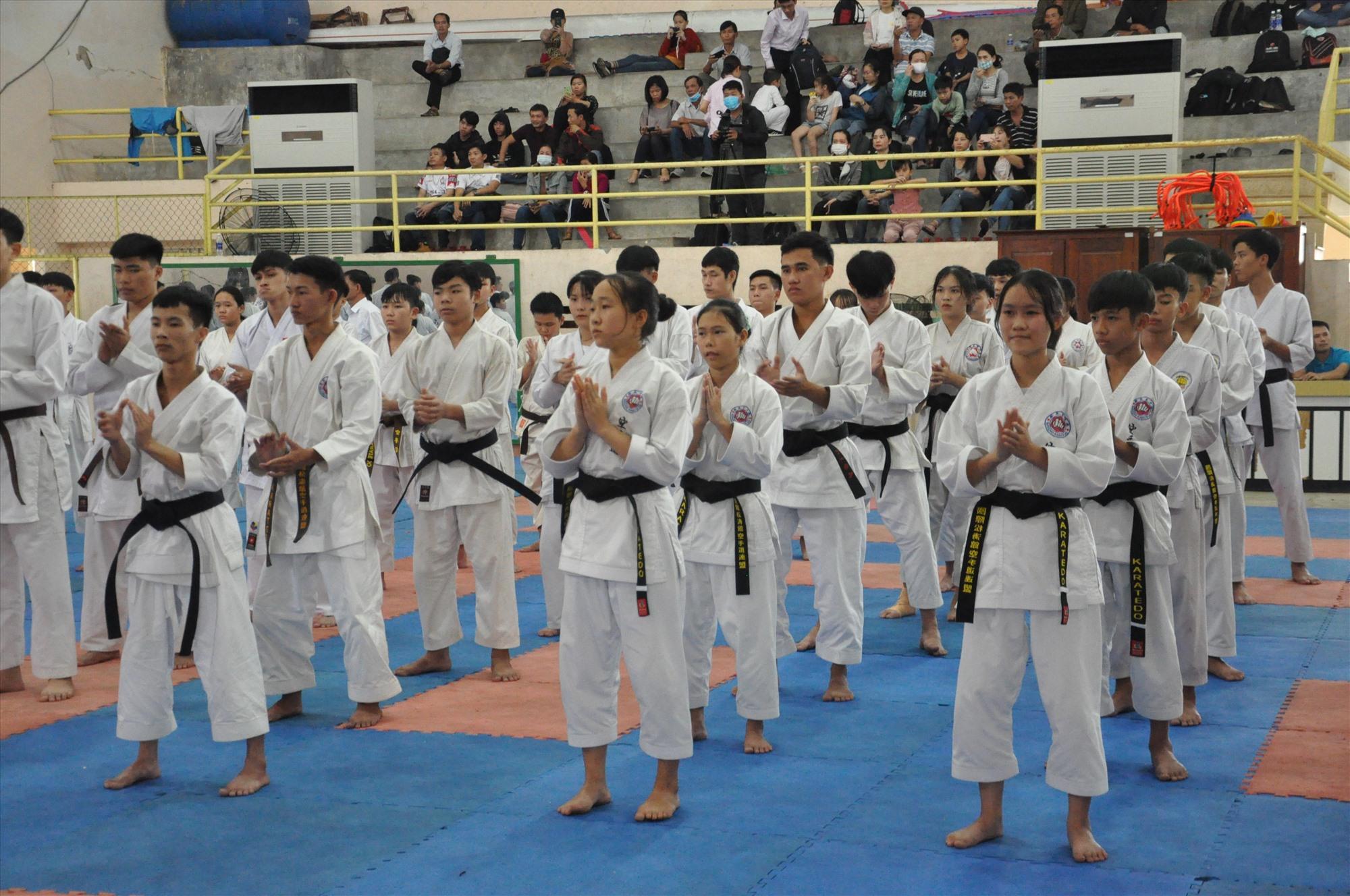 Có 137 võ sinh dự thi đến từ Quảng Nam, Quảng Ngãi và Đà Nẵng. Ảnh: T.V