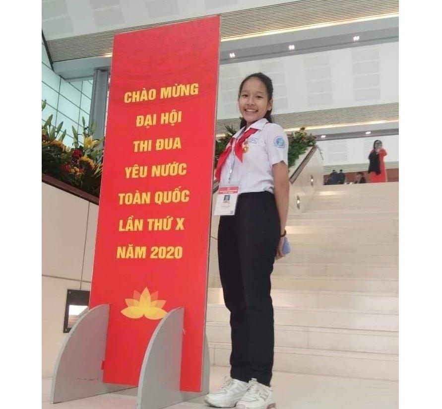 Trần Thị Quế trong lần tham dự Đại hội Thi đua yêu nước toàn quốc lần thứ X tại Hà Nội. Ảnh: KL