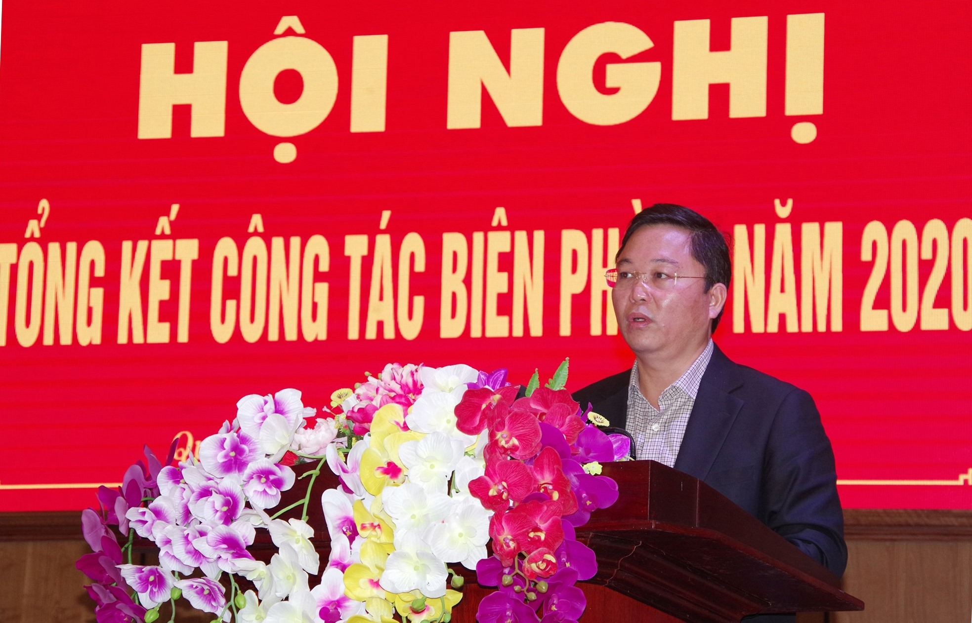Đồng chí Lê Trí Thanh - Chủ tịch UBND tỉnh phát biểu chỉ đạo tại Hội nghị. Ảnh: HUỲNH CHÍN