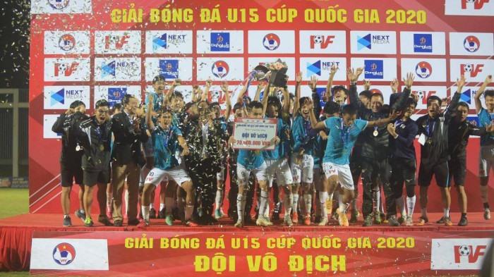 U15 PVF vô địch Giải U15 Cúp Quốc gia 2020.