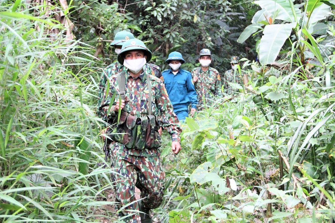 Bộ đội Biên phòng Quảng Nam duy trì hoạt động tuần tra biên giới. Ảnh: M.C