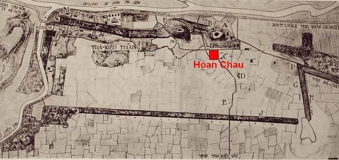 Kinh đô Trà Kiệu (theo bản vẽ khai quật năm 1927 - 1928)