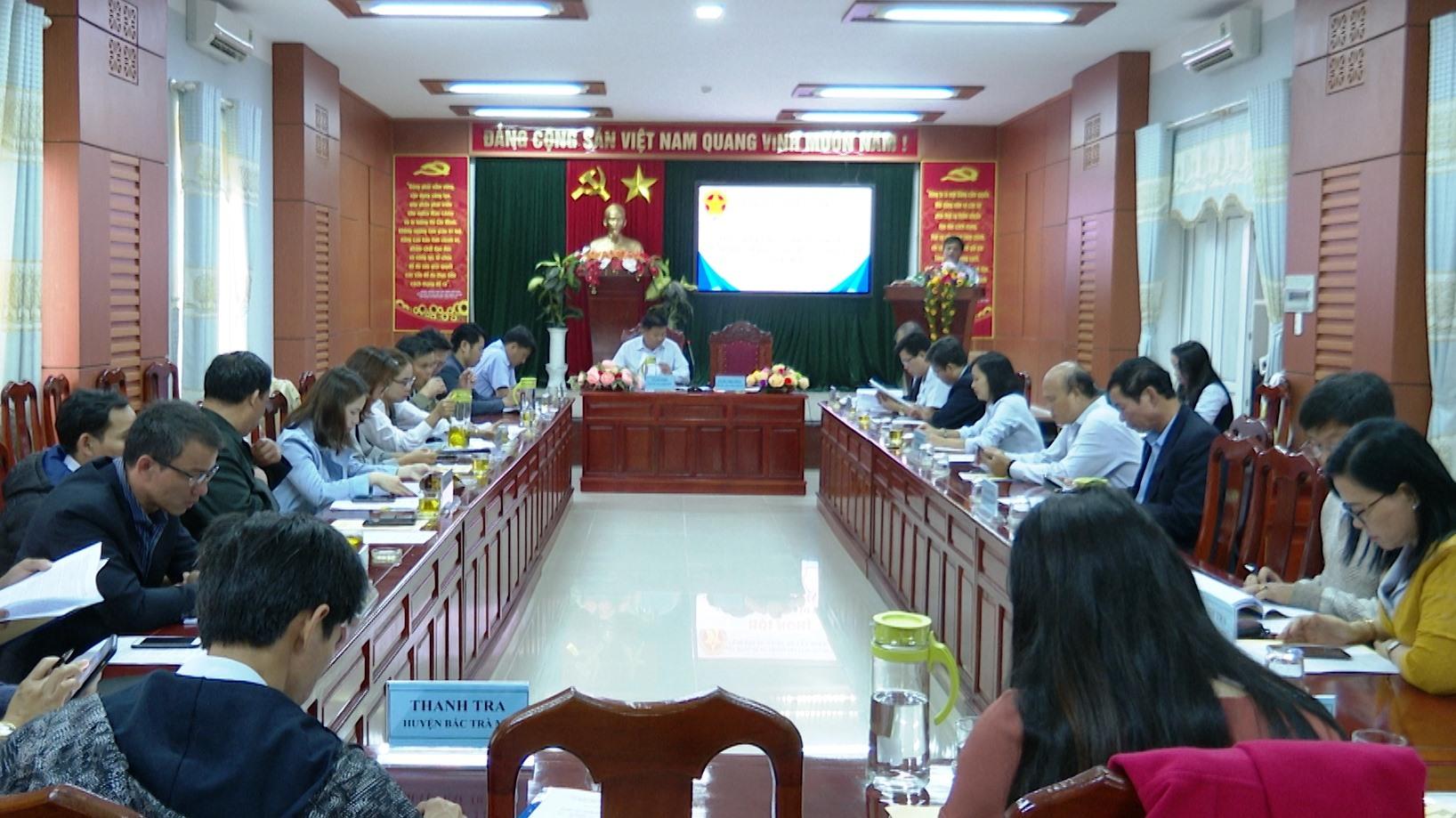 Hội nghị tổng kết Cụm Thanh tra 9 huyện miền núi tỉnh Quảng Nam năm 2020.