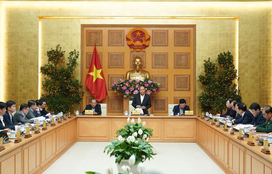 Thủ tướng Nguyễn Xuân Phúc chủ trì phiên họp. (Ảnh: TTXVN)