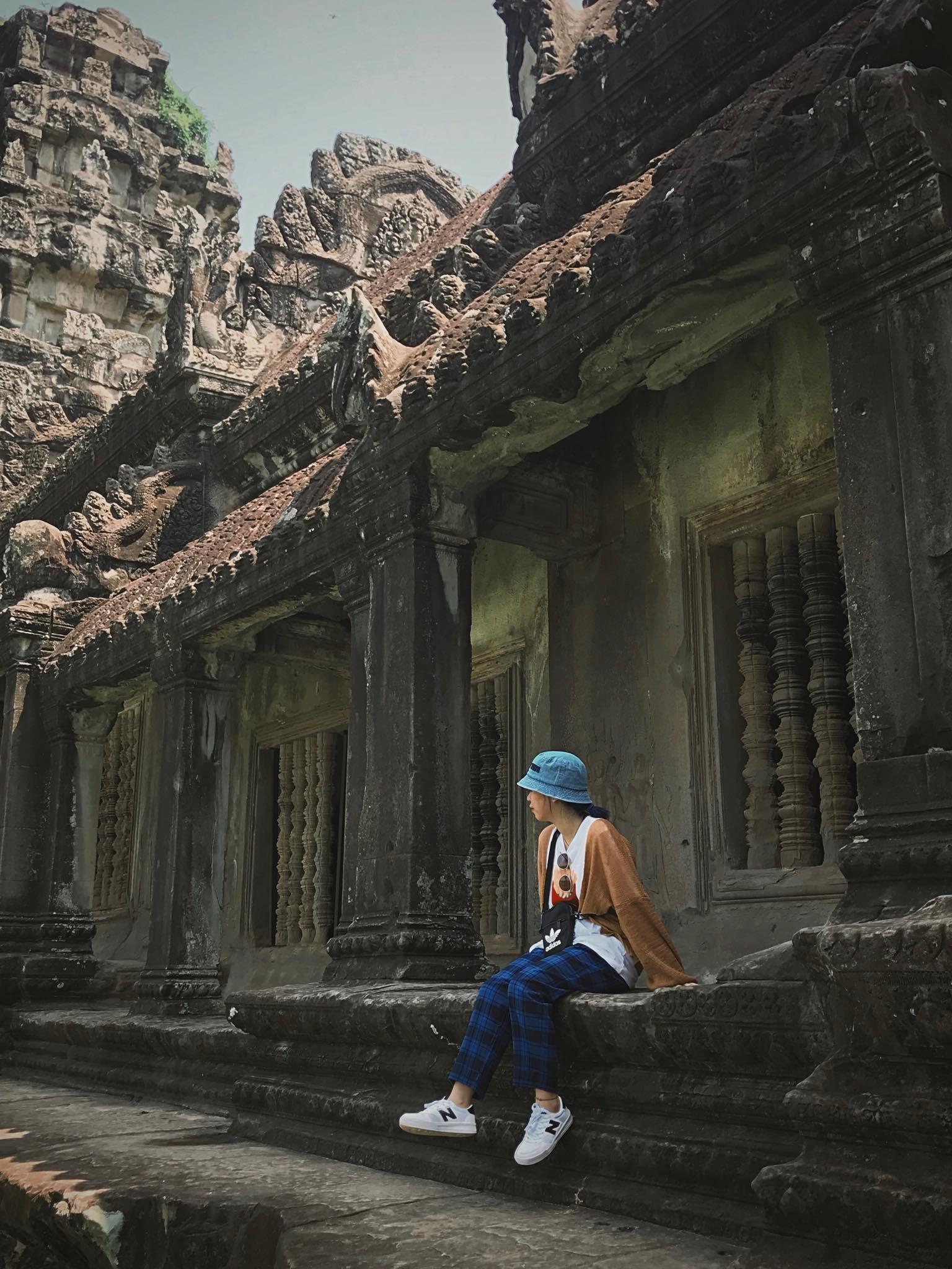 Tác giả ở Angkor Wat. Ảnh: H.N.T