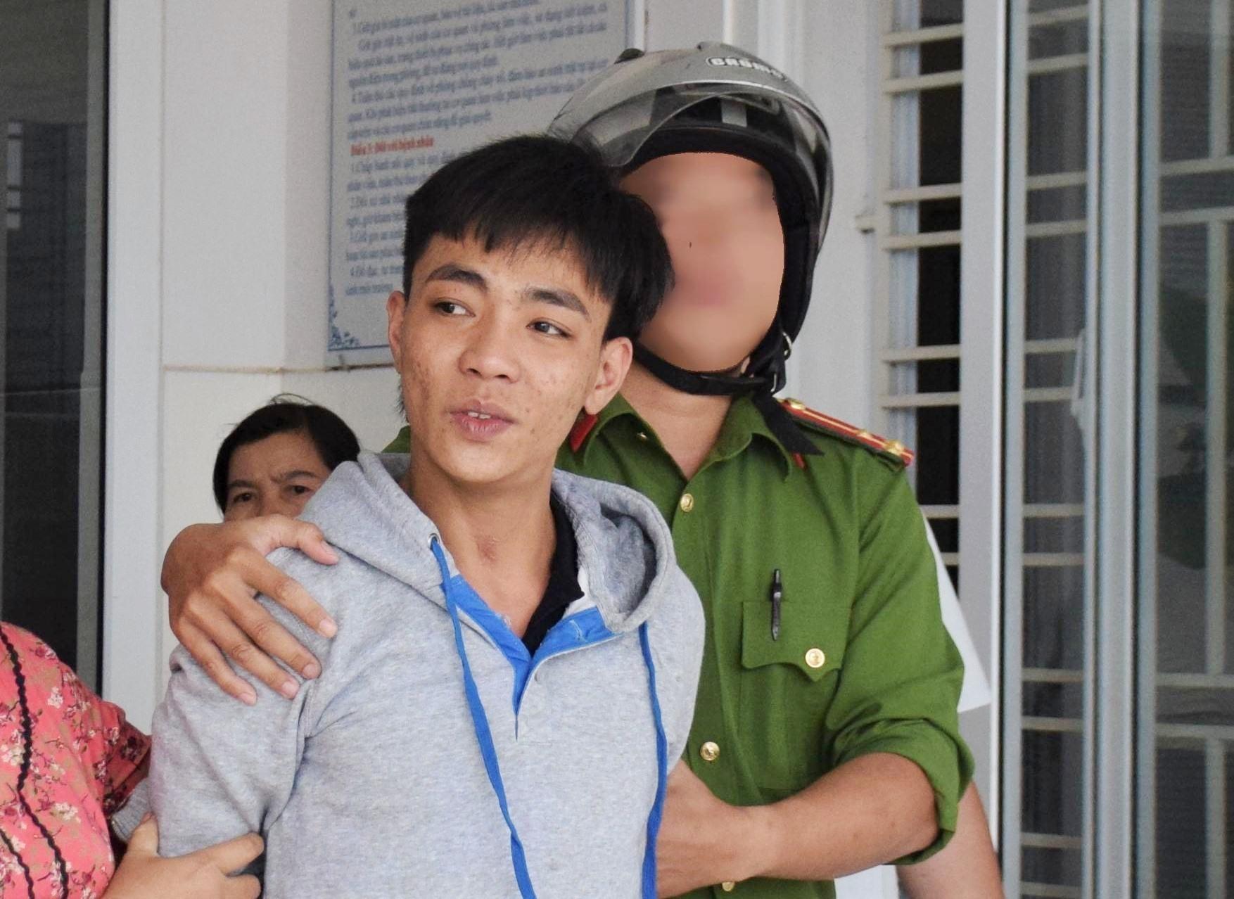 Đối tượng Cường bị bắt sau khi có hành vi cố ý gây thương tích cho một phụ nữ. Ảnh: THANH THẮNG