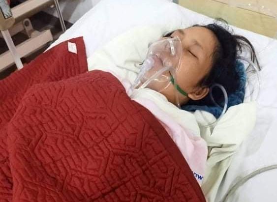 Chị Nguyễn Thị Thanh Nga hiện đang nằm mê man tại Bệnh viện Trung ương Huế