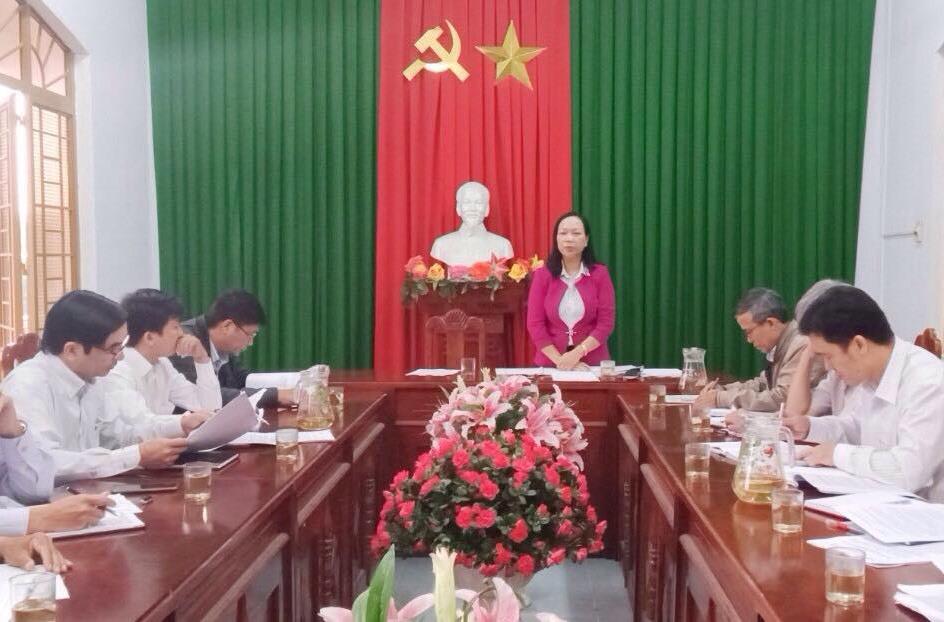 Ban Pháp chế HĐND tỉnh làm việc với UBND xã Quế An.