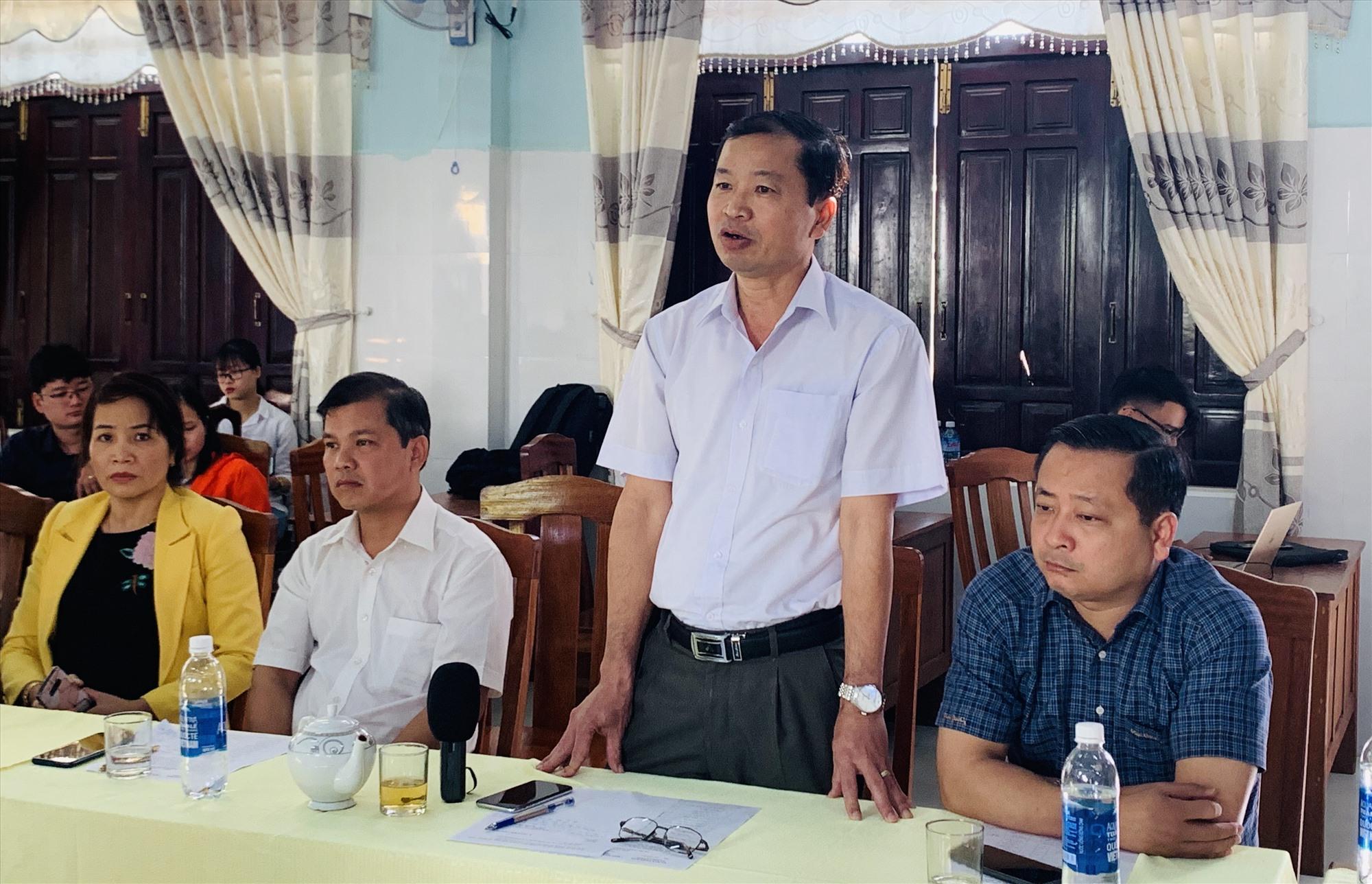 Ông Trần Văn Mai - Chủ tịch UBND huyện Đại Lộc phát biểu tại cuộc họp. Ảnh: Nhóm P.V