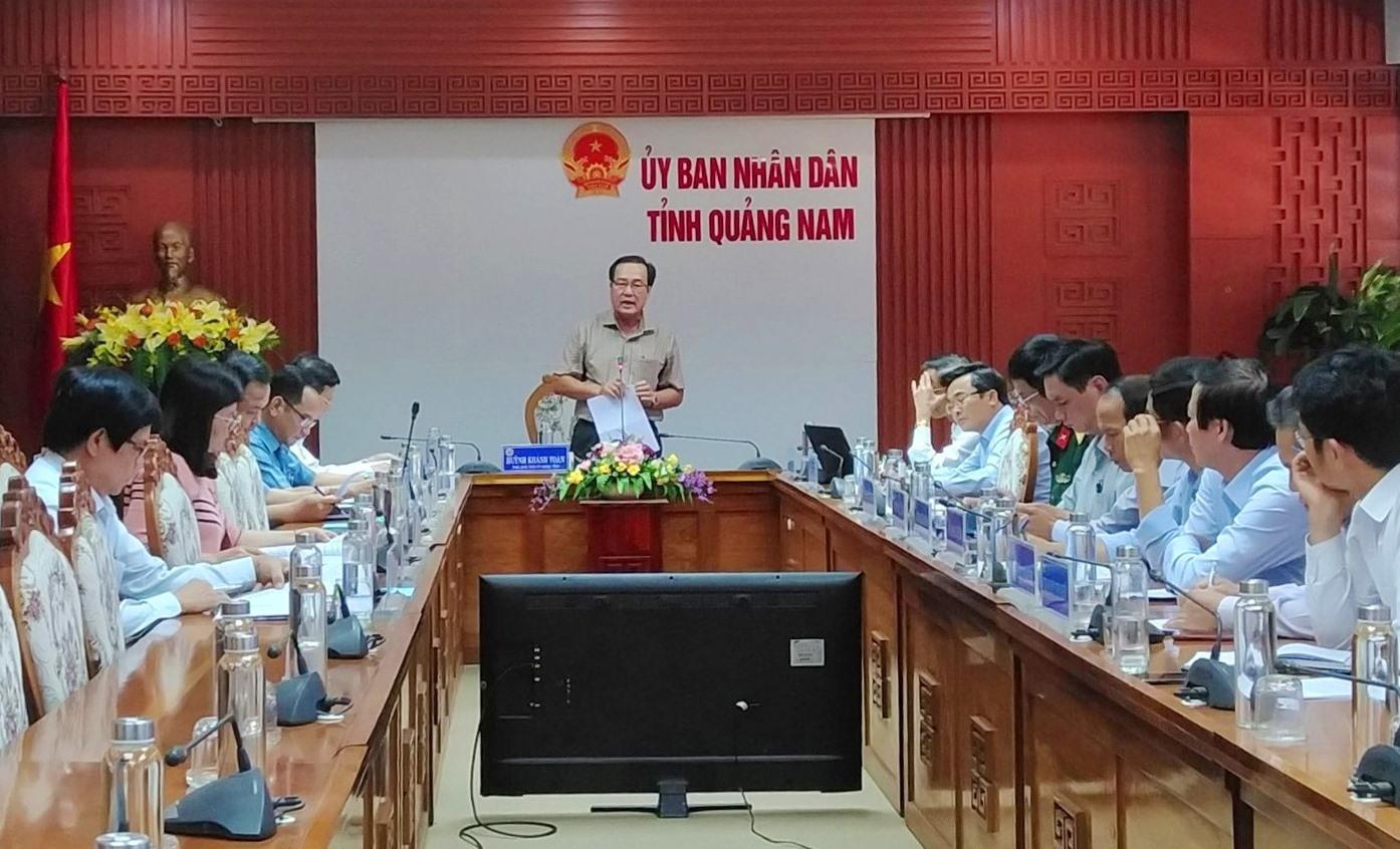 Phó Chủ tịch Thường trực UBND tỉnh Huỳnh Khánh Toàn kết luận cuộc họp. Ảnh: M.L