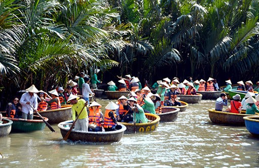 Bay Mau nipa forest, a famous tourist destination in Hoi An, Quang Nam