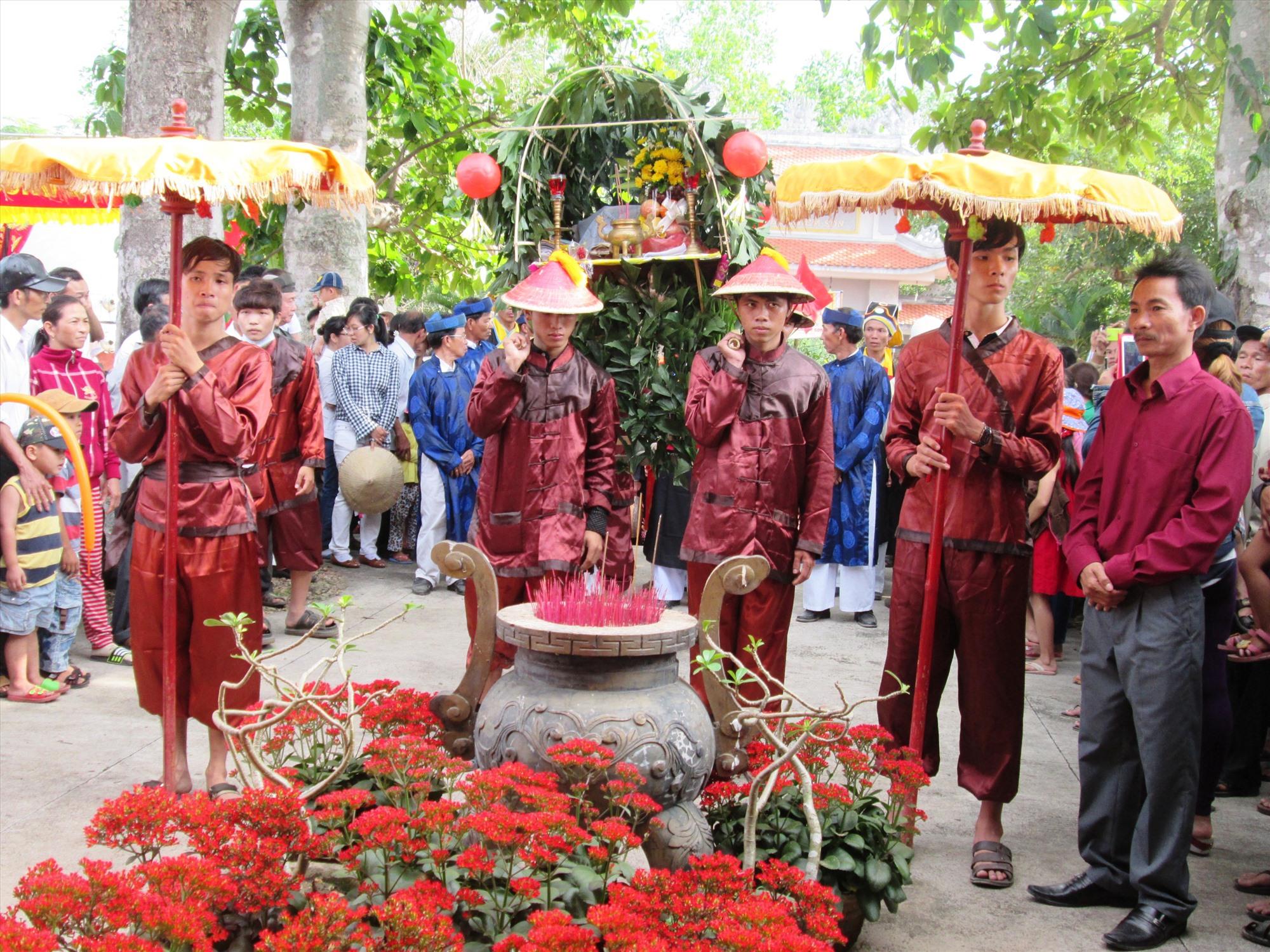 Năm 2020, lễ hội Bà Chiêm Sơn được tổ chức với quy mô lớn nhất từ trước đến nay. Ảnh: H.N