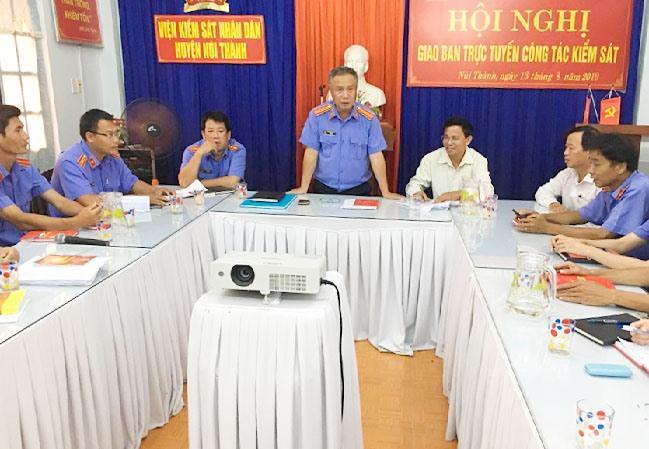 Các diễn đàn sinh hoạt chuyên môn, nghiệp vụ được Chi bộ VKSND huyện Núi Thành tổ chức thường xuyên, góp phần thực hiện tốt các nhiệm vụ chính trị của đơn vị. Ảnh: C.Đ
