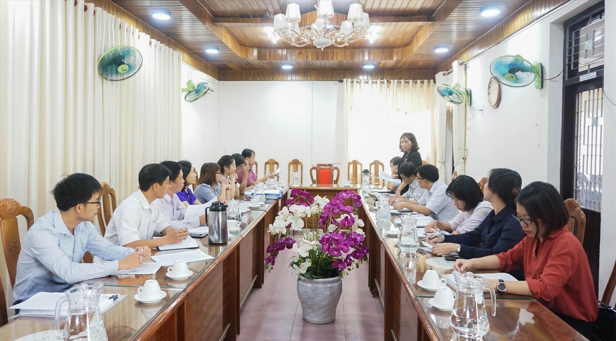 Kiểm tra CCHC huyện Đại Lộc năm 2019. Ảnh: H.T