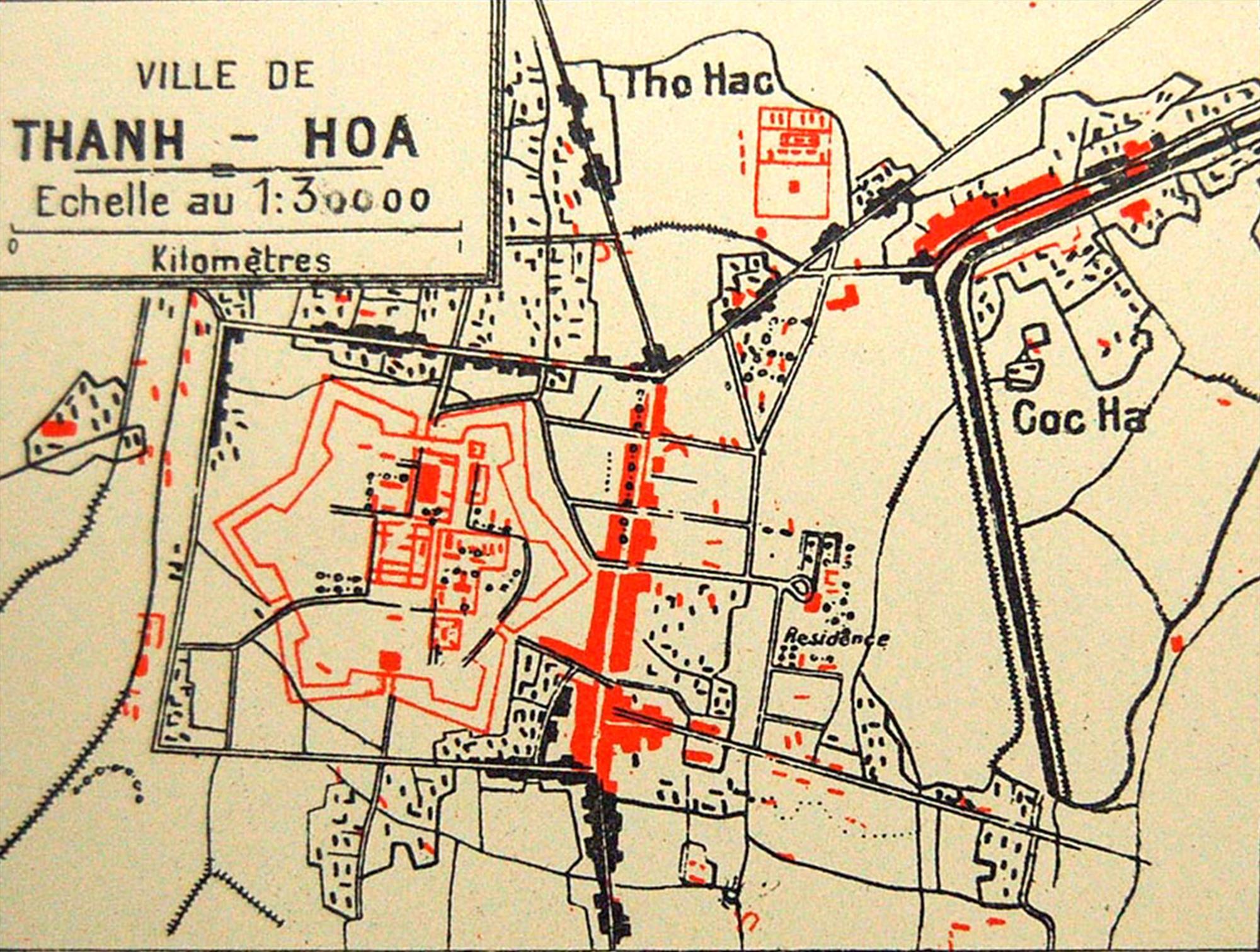 Bản đồ tỉnh Thanh Hóa được vẽ vào năm 1909.